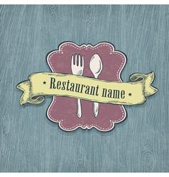 restaurant design template vector image vector image