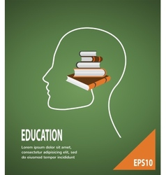 The concept of modern education Infographic vector image