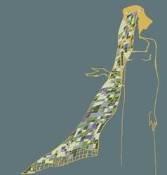Woman witk veil vector image