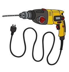 Yellow impact drill vector image