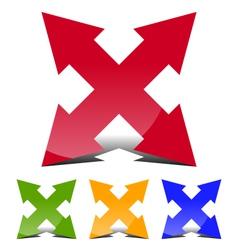 4 direction arrow vector