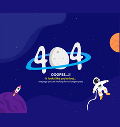 404 error page with space themes vector