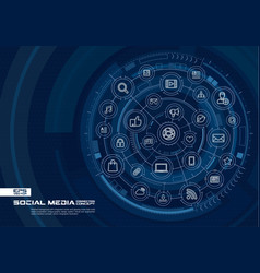 abstract social media background digital connect vector image