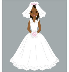 African American Bride vector image