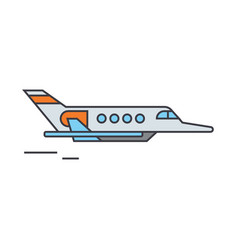 aircraft line icon concept aircraft flat vector image