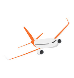 Airplane on a isolated white background flat vector
