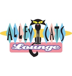 Alley cat logo vector image
