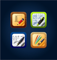 App icon drawing tools vector