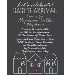 Baby-Shower Houses vector image