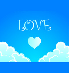 background with romantic blue sky for vector image