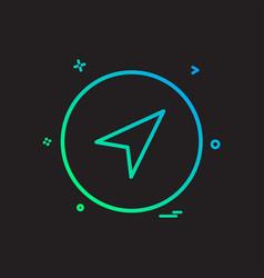 basic icon plane set share design vector image