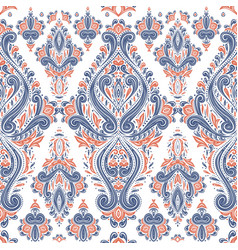 blue and orange stylized ornamental pattern vector image