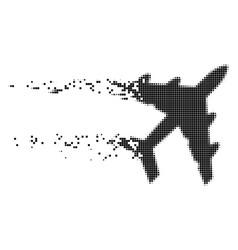Bomber dissolving pixel icon vector