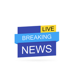 breaking news logo live bannertv news vector image