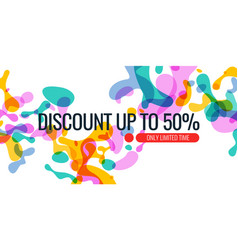 bright colored banner sale with colored splashes vector image