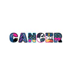 Cancer concept word art vector