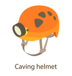 Caving helmet icon isometric style vector