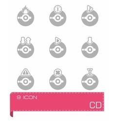 CD icon set vector image