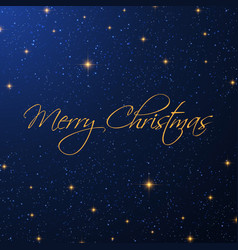 christmas starry background vector image