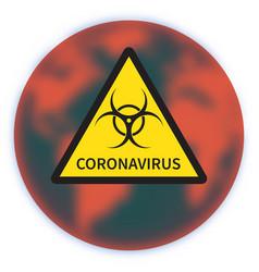 Concept coronavirus 2019 ncov biological hazard vector