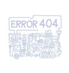 concept error 404 colored background vector image