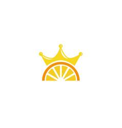 creative orange crown symbol logo vector image