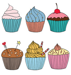 cupcakecolor vector image