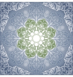 Damask Seamless With Baroque Ornaments vector image