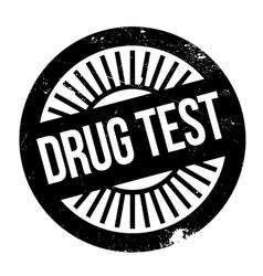 Drug test stamp vector image