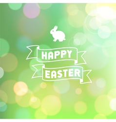 easter background bokeh green vector image