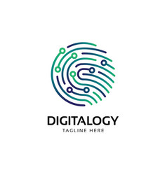 fingerprint logo designcreative symbol element ve vector image