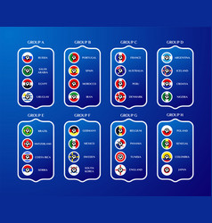 football championship groups in russia country vector image