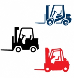 Fork lift trucks vector