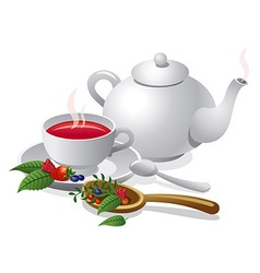 fruit tea vector image
