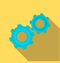 Gear mechanism icon in flat style vector