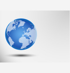 globe abstract dots of a world map eps 10 vector image
