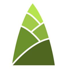 Green bamboo shoot sign vector