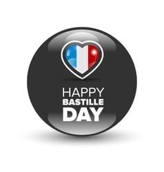 Happy bastille day badge vector