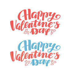 Happy valentine day greeting text lettering typo vector