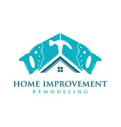 home improvement logo vector image
