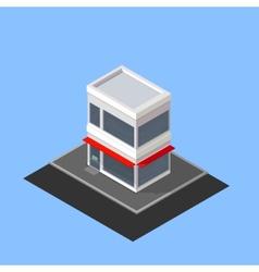 Isometric store building vector