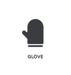 kitchen glove element or icon ready for print or vector image