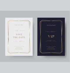 luxury vintage golden invitation card template vector image