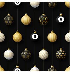merry christmas billiard seamless pattern hang vector image