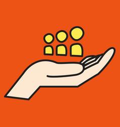 myspace social network icon vector image