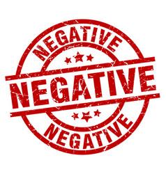 Negative round red grunge stamp vector