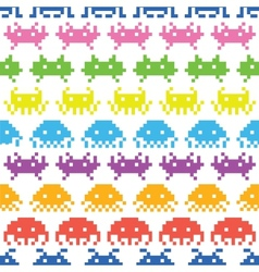 Old school game pattern vector