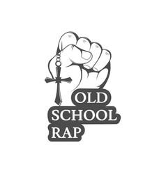 Old school rap logo vector