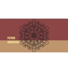 Oriental style greeting card template vector image