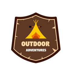 Outdoor new adventures logo flat style vector